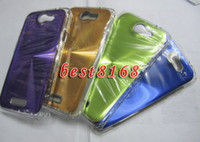 Wholesale Hard metal aluminum CD bling chrome Case for HTC one X V S plastic shiny skin cover cases