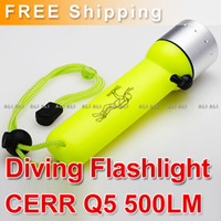 Wholesale CREE Q5 LED Waterproof Diving Flashlight Torch LM