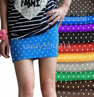 Wholesale 10 Fast shipping candy Packet hip bust skirts woman skirts MINI skirts A word skirt short skirt