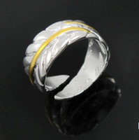 Silver Plated band swans - 925 Silver Fashion Feather Rings Gold Swan Feather Women s Rings Size Top Sale Rings Jewelry