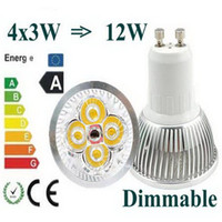 100X Dimmable LED Lamp GU10 4X3W 12W Spotlight Light Bulbs H...
