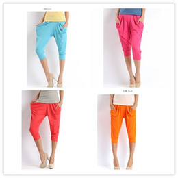 Wholesale 2012 Fashion Lady s Colorful Drape Harem Pants Hip Hop Stretch Trousers Colors