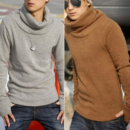 Wholesale Korean men fashion sweater Knitwear casual fashion Slim pullover warm color thicken sweater