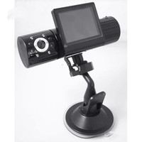Wholesale Car DVR Vehicle cam Dual lens IR Night vision Car dash Dashboard camera DVR Lens Rotate degrees