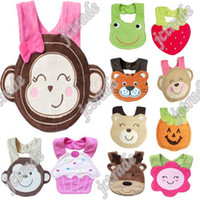 Wholesale Animals Bibs Feeding Saliva Towel Infant Animal Vegetable Baby Bibs In Stock designs For Chose