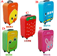 Wholesale Super cute animals classic children s travel advisory suitcase box bag trunk lever
