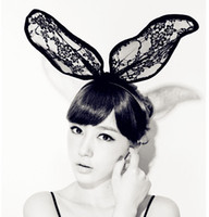 Girl's Hairhand Party Band LV Bunny Rabbit Ears Ribbon Lace ...