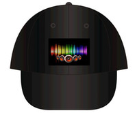Wholesale Hot New Sound Activated Light Up Hat Flashing Cap Equalizer EL LED Baseball Hat