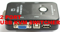 Wholesale 2 PORT USB KVM SWITCH BOX PC MONITOR MOUSE KEYBOARD