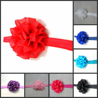 Wholesale 60pcs Children s Crochet headband baby hair bands girl Crochet hair band soft Multi Colored