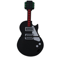 Wholesale real gb gb gb cartoon Black guitar shape USB Flash Drive Pen Drive Memory Stick US0037
