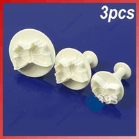 Wholesale 3pcs Butterfly Plunger Cutter Mold Sugarcraft Fondant Cake Decorating DIY Tool