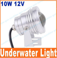 Wholesale cool warm white W V LM LED Underwater Light Lamp Convex Lens led Under water floodlight