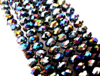 Wholesale 200PCS mm mm mm Black AB Swarovski Crystal Loose Bead