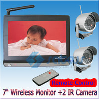 Wholesale 7 inch LCD Baby Monitor With G Wireless Security Night Version CCTV IR Camera AV Output