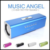 Wholesale Hot Audio Box FM MP3 Player U disk Micro SD Slot Digital Portable Mini stereo Speaker Music Angel
