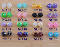 Acrylic, Plastic, Lucite 16mm - Mix Colors mm Nice Basketball Wives Earrings Beads Shinny Colorful Acrylic Beads Top Sale