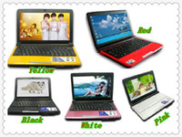 Wholesale EMS good Sale inch color Intel Atom N455 GHz MB MB GB GB WiFi Camera Laptop EW