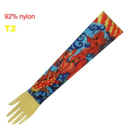 Wholesale 10pcs Pop Tattoo Red Goldfish Sleeves Arm Sleeve Fashional Tattoo Designs For Men amp Women T2