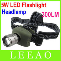 Wholesale Best Price HeadLamp W LM Led Zoomable CREE Headlight Flashlight Torch With Retail Package