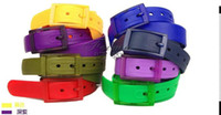 Wholesale Fashion Candy Color Belt Silicone Rubber Unisex Lady Men Candy colors Waistband Waist Belt Strap