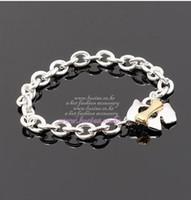 Bracelets de fille Bracelet de charme d'os de chien Alliage Placage d'or lumineux Shopping libre