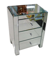 Wholesale MR glass mirrored furniture side table