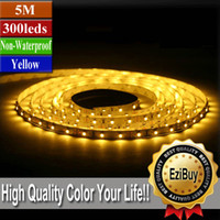 Wholesale Yellow M FT led SMD Flexible Strip Light Non Waterproof Car Home Garden EB Y