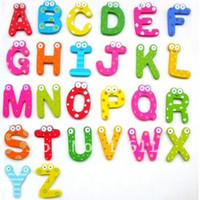 Wholesale alphabet Wooden Colorful Cartoon Fridge Magnets Refrigerator sticker cute Magnetic