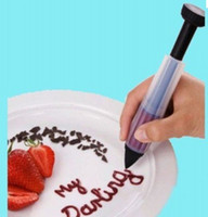 Wholesale Cake Biscuit Cookie Pastry Icing Decoration Syringe Chocolate Plate Pen Tool New
