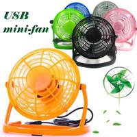 Wholesale Direction Adjustment Cooling Fan for PC Laptop Notebook USB Mini Fan Portable Desktop Plastic