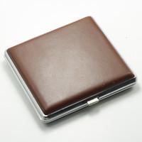 Rectangular   Leather Cigarette Case 20 Cigarettes Gift