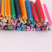 Wholesale New set Cute D Nail Art FIMO Butterfly Canes Rods Decoration set H01206