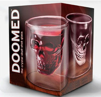 Wholesale 6pcs Crystal Skull Head Vodka Shot Glass Drinking Ware for Home Bar ounces