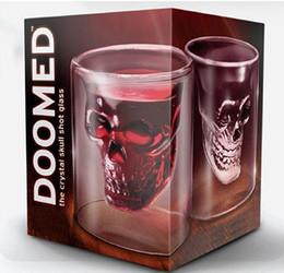 Wholesale 6pcs Crystal Skull Head Vodka Shot Glass Drinking Ware for Home Bar ounces