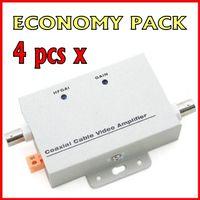 amplifier videos - 4pcs Coaxial Cable Video Amplifier CCTV Signal Booster BNC Balun Connectors