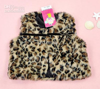 Wholesale Baby Girls coat vest kids girl A1116 fashion leopard tank Girls Vest autumn Girl outwear