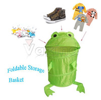 Wholesale Animals Frog Pop Up Storage Clothes Laundry Foldable Hamper Bin Storage Basket