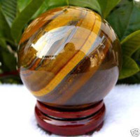 Wholesale Natural tiger eye quartz crystal Sphere mm