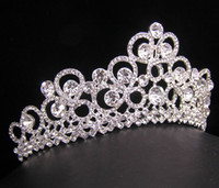 Wholesale Wedding Bridal crystal veil tiara crown headband CR221