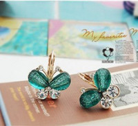 Wholesale 20PAIRS HOT SALE AND FASHION EXQUISITE NINE COLORS BUTTERFLY EARRINGS JEWELRY