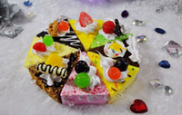 Wholesale FreeShip Piece Mixed Cartoon Fruit Cake Sweets Cake Squishy Phone Charm Strap Mobile Pendant Gift