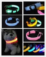 LED Collar de Perro de la Noche la Seguridad de la Mascota Luz Intermitente Ajustable Gato Collar Talla XS S M L XL 3396