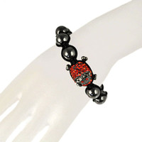 Wholesale gothic skull braided friendship bracelets with stones colors BR