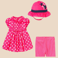 girls three piece suit lovely red bodysuit baby dress + hat ...