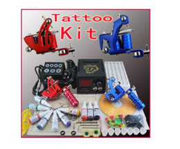 Wholesale 2 Tattoo Machine Gun Tattoo Power Tattoo Ink Kits TK