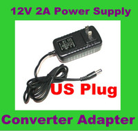 Wholesale AC V To DC V A Power Supply Converter Adapter for Led Light Strip with US EU plug