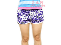 Wholesale high quality fashion women hot floral shorts leisure beach shorts Hawaii shorts lady swimming trunks