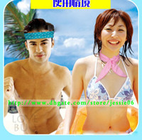 Cotton yellow towels - HOTTEST SELLING COOL WATER BAND Speed to Cool Towel Cooling Scarf Ties Neck Scarves mix color gift