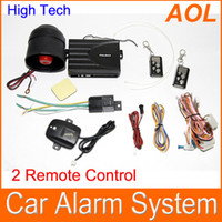 Wholesale Car alarm security system Way Car Alarm Protection System with Remote Control Car against theft